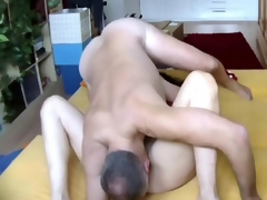 Big ass dude plows his milf wife